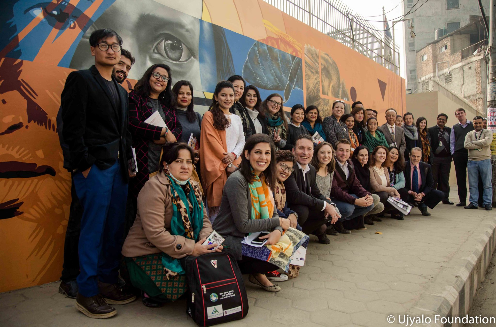 Australian embassy in collaboration with ujyalo foundation for Australian mural